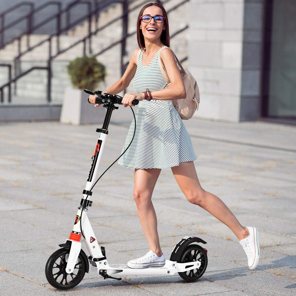 Goplus Fodlable Kickscooter for heavy adults