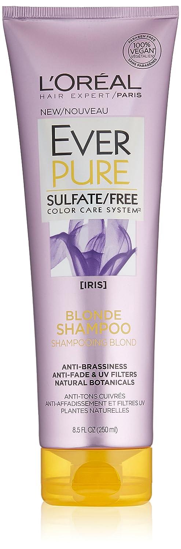 L'Oreal Paris Everpure Blonde Shampoo, Paraben Free, Gluten Free, Vegan, 8.5 fl.oz. L' Oreal Paris