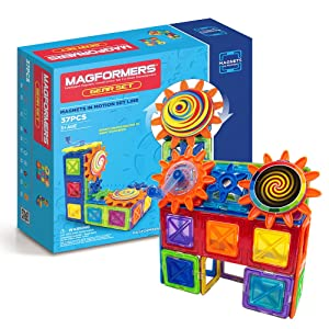Magformers Magnets in Motion Set (37-pieces) MagneticBuildingBlocks, EducationalMagneticTiles Kit , MagneticConstructionSTEM gear science Toy Set
