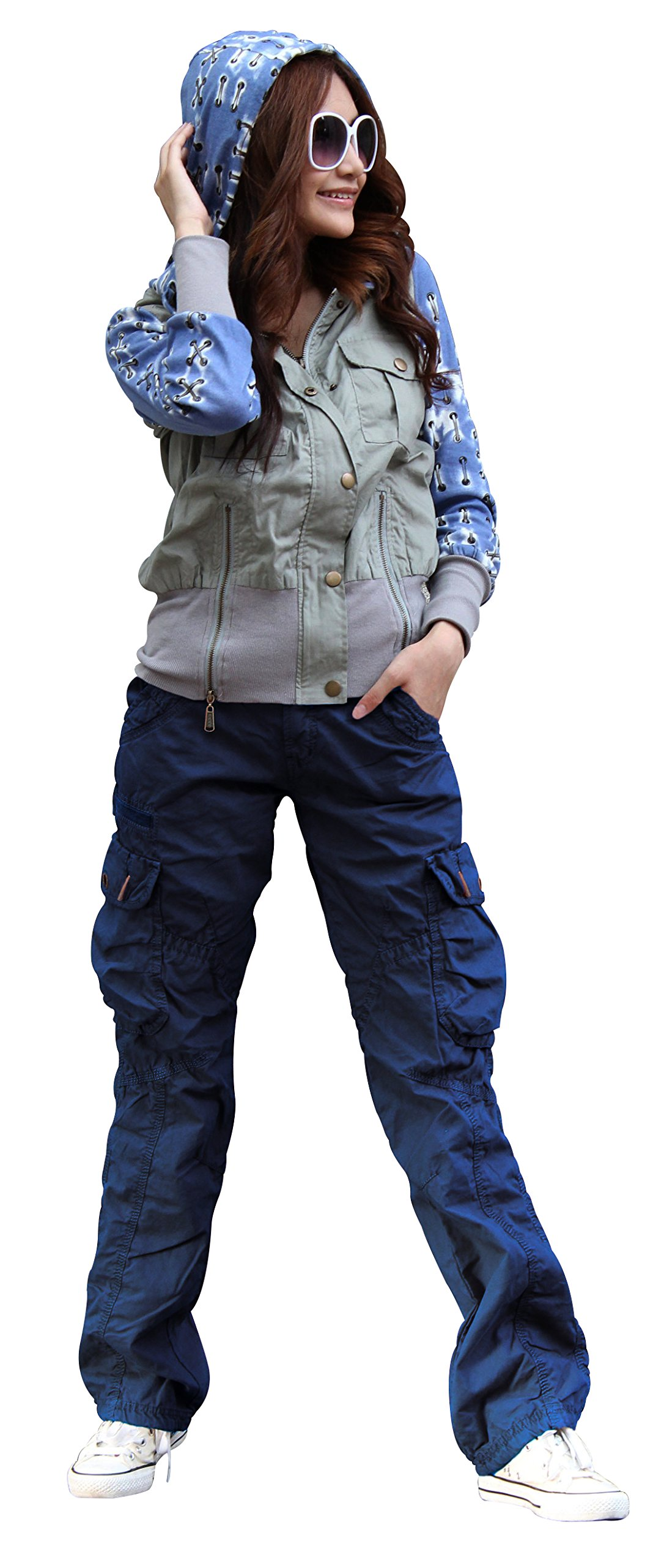 SKYLINEWEARS Women's Casual Cargo Pants Military Army Styles Cotton Trousers 2809 Navy XL
