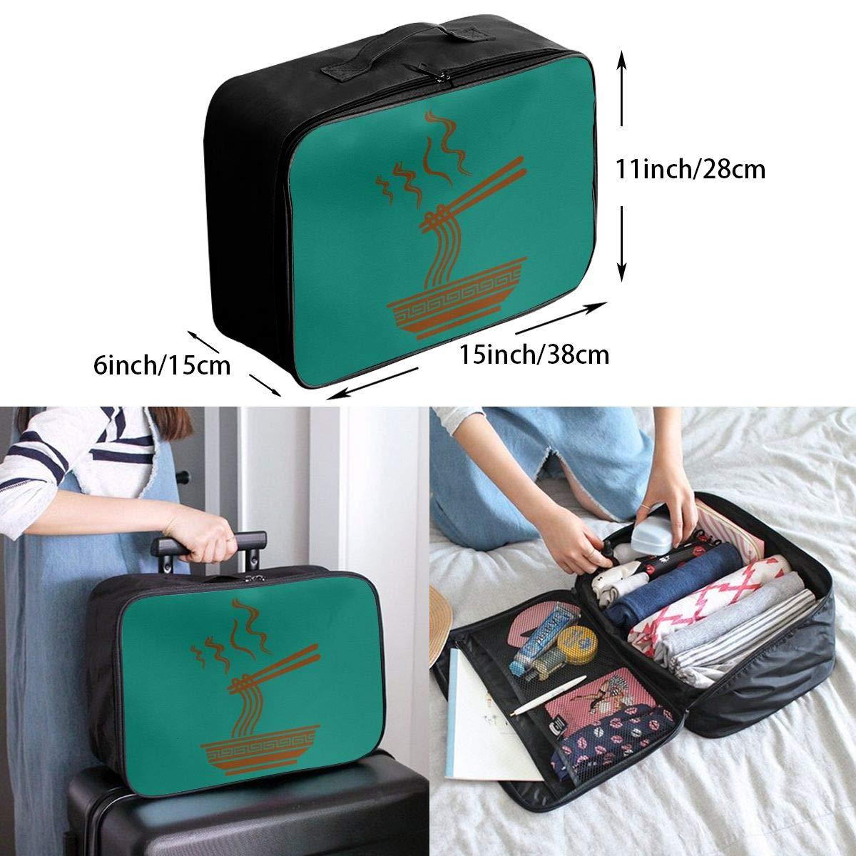 Travel Luggage Duffle Bag Lightweight Portable Handbag Ramen Noodles Large Capacity Waterproof Foldable Storage Tote
