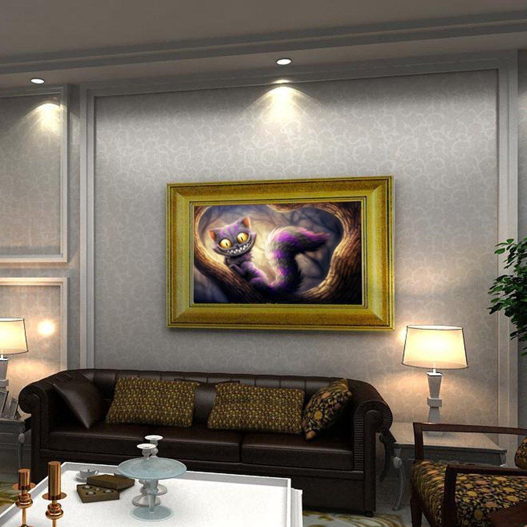 Demiawaking 58/x 39/cm 5D DIY Diamond ricamo Cat diamante pittura a punto croce Home Wall Decor