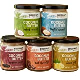 Coconut Kitchen Crave Case Coconut Butter (5-pack 9 oz jars: Naked, Dark Chocolate, Toasted Coconut, Lemon Zest, Cinnamon Raisin)