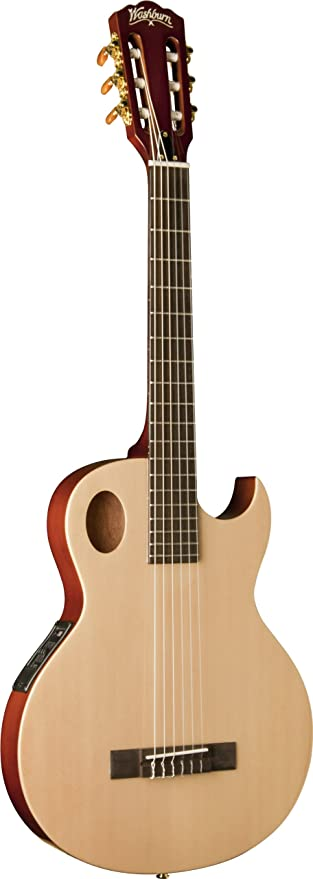 Washburn usm-eact42s Festival Series - Guitarra eléctrica acústica, Natural: Amazon.es: Instrumentos musicales