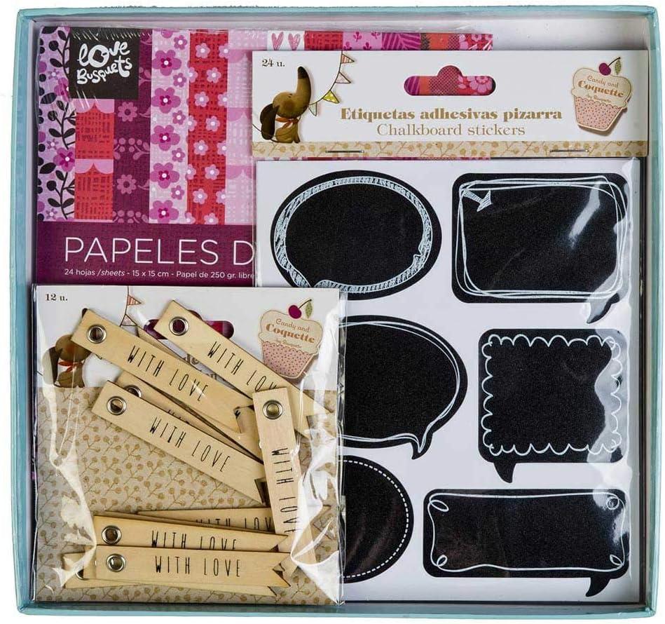 Pack Scrapbooking Papeles Decorados y Etiquetas: Amazon.es: Juguetes y juegos