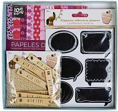 Pack Scrapbooking Papeles Decorados y Etiquetas: Amazon.es ...