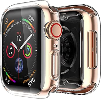 2 Pack Smiling Apple Watch 4 Clear Case