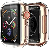 Smiling Apple Watch 4 Clear Case with Buit in TPU Screen Protector 40mm- All Around Protective Case High Definition Clear Ultra-Thin Cover Apple iwatch 40mm Series 4 (2 Pack)