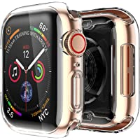 Smiling Clear Case for Apple Watch Series 4 40mm With Buit in TPU Screen Protector - All Around Protective Case High Definition Clear Ultra-Thin Cover for Apple Iwatch 40mm Series 4 (2 Pack)