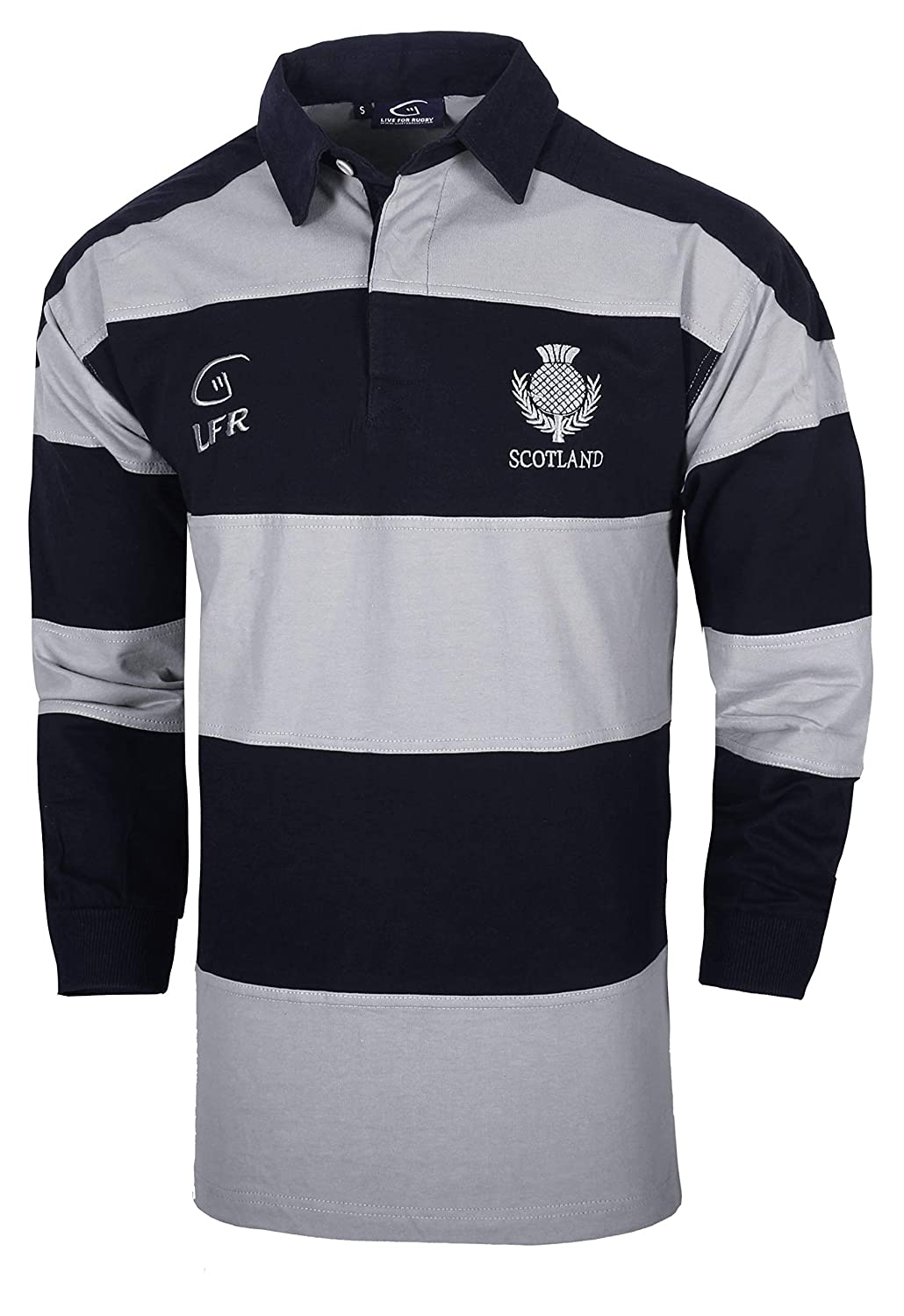 0741be8dad0 Amazon.com: Scotland Longsleeve Striped Rugby Jersey: Clothing