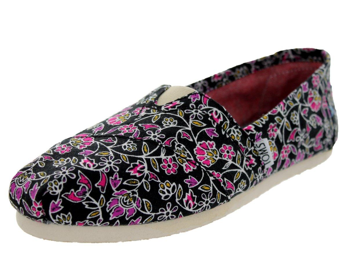 TOMS Women's Classics Floral Black Casual Shoe 9 Women US