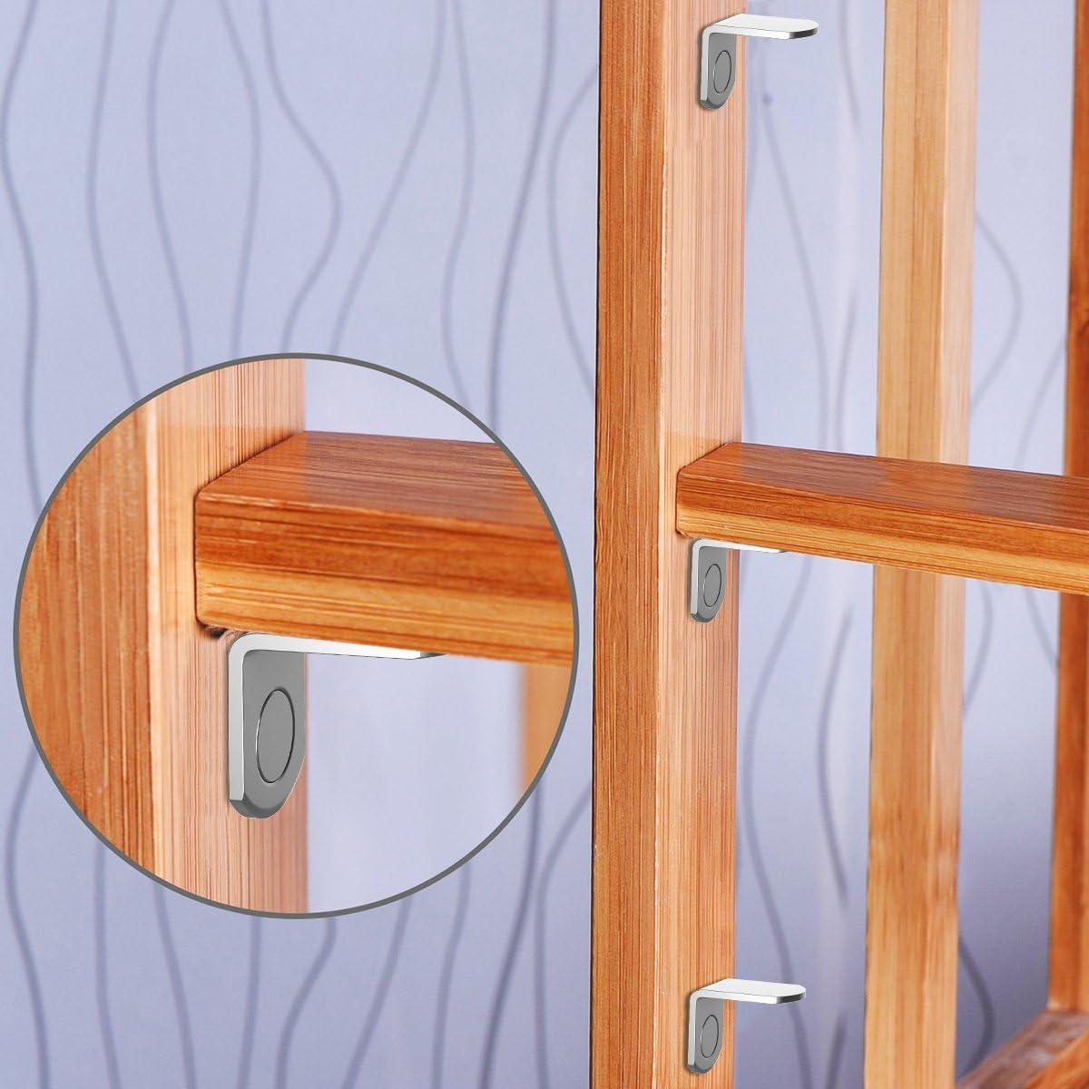 YoungRich 60 Pack Regaltr/äger St/ützen Edelstahl Durable 5 mm in 3 Styles f/ür Schrank B/ücherregal Support