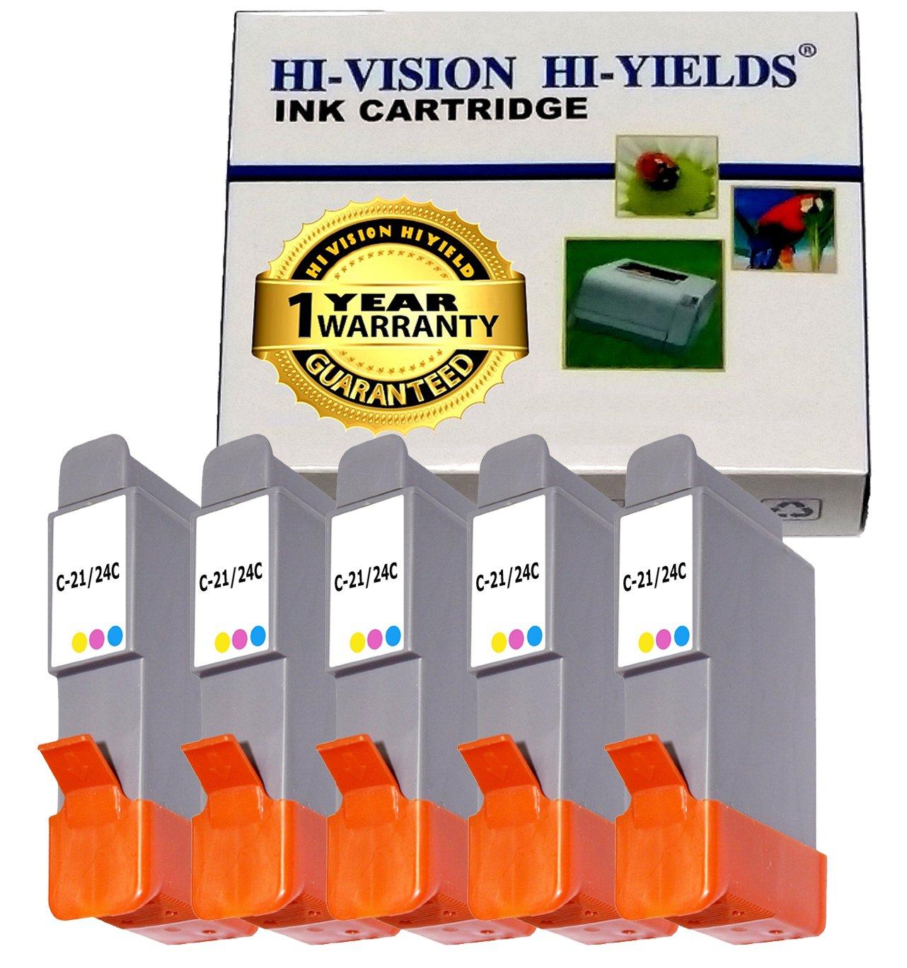 Amazon.com: HI-VISION Compatible Canon BCI-24 BCI24 5 Pieces Color ink jet  Relacement Cartridge for PIXMA iP1500, iP2000, MultiPASS MP390, MP370, ...