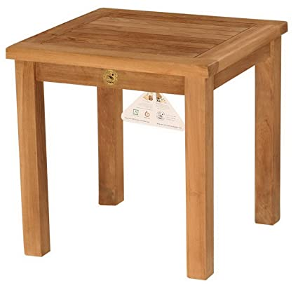 Amazoncom Teak Wood Side Table Wood Square Table Outdoor - Square teak patio table