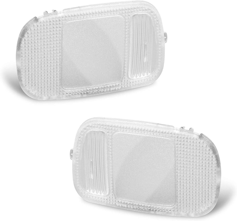 XtremeAmazing Set of 2 Overhead Console Lamp Lens 5183271AA 5183270AA