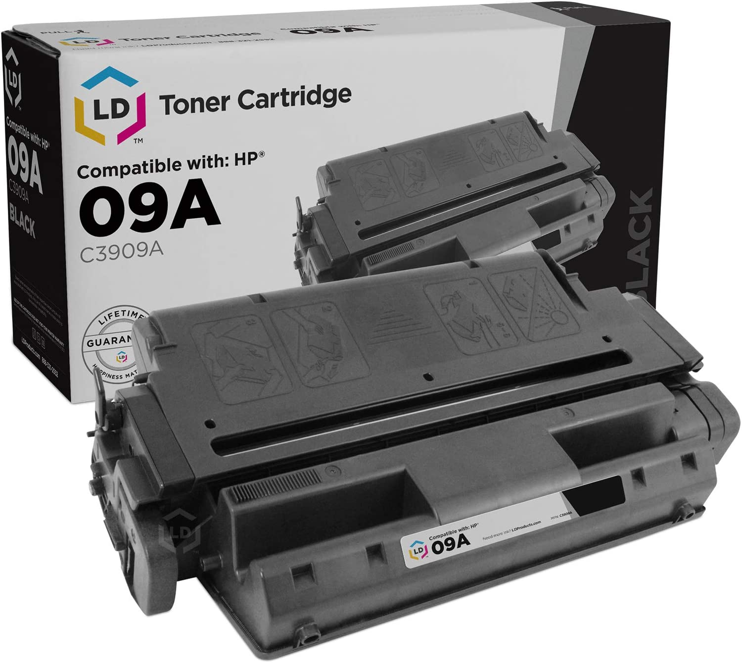 LD Remanufactured Toner Cartridge Replacement for HP 09A C3909A (Black)