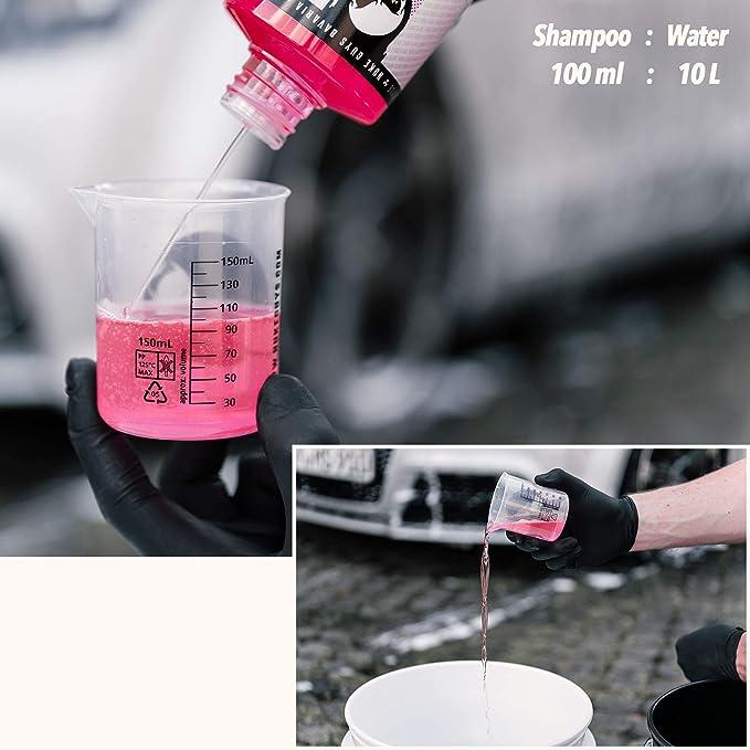 Nuke Guys 2 Eimer Waschmethode Autopflege Set Pink Cherry Autoshampoo 500ml 2x Gritguard Wascheimer 5gal 1x Grit Guard Einsatz Gritguard Waschbrett 2x Mikrofaser Waschtuch Messbecher Auto
