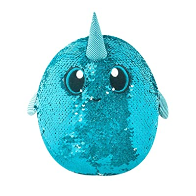 "SHIMMEEZ, 8"" Arlo Narwhal, Sequin Plush Stuffed Animal: Toys & Games"