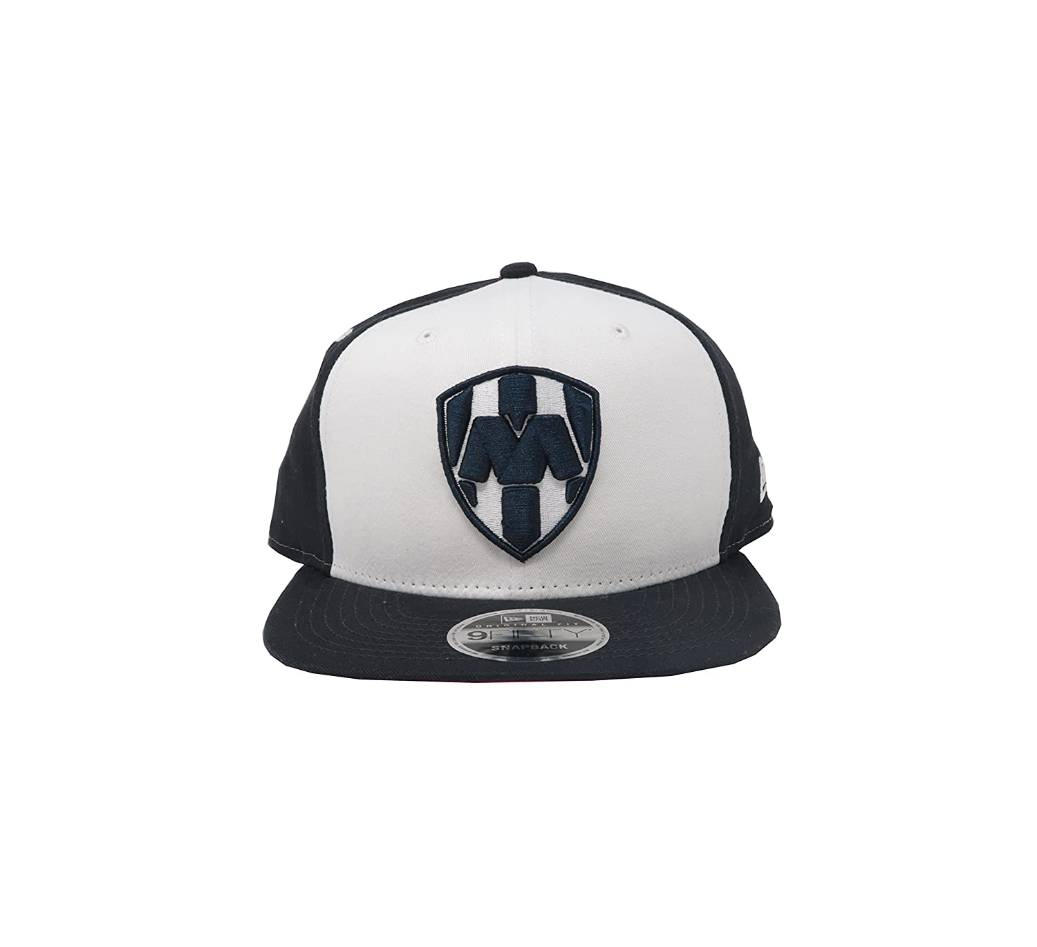 Amazon.com: New Era 9Fifty Hat Rayados De Monterrey Liga MX Official White/Navy Blue Snapback: Clothing