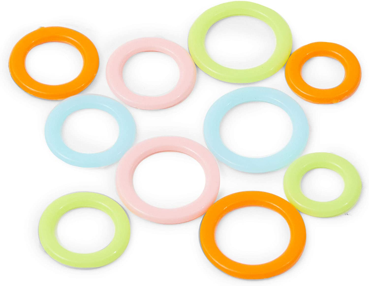 180 Pieces Knitting Stitch Markers Rings with Storage Box