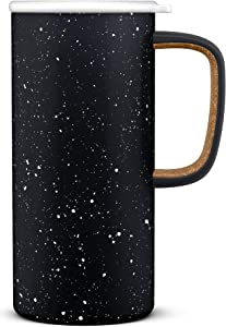 Ello Campy Vacuum-Insulated Stainless Steel Travel Mug (Matte Black)