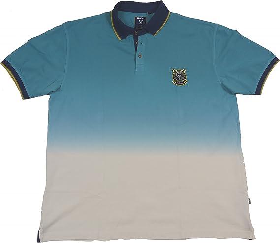 Polo de Hajo en dos colores de moda de Look, turquesa turquesa 60 ...