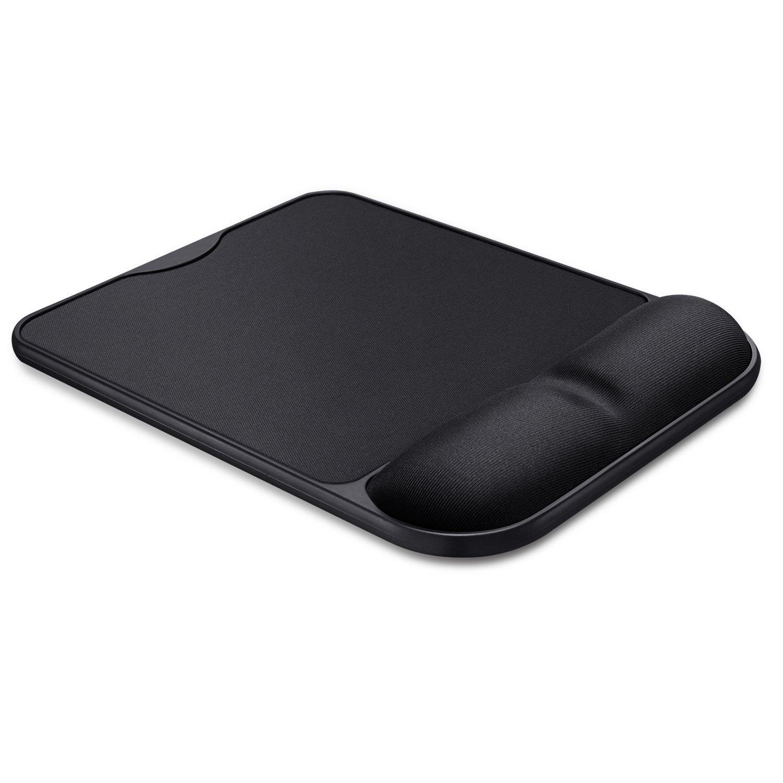 Flyproshop ergonomico in memory foam, rimbalzo cronica mouse Poggiapolsi Wristguard mouse pad durevole e comodo tappetino per mouse con supporto per polso per facile tipo e sollievo dal dolore (nero)