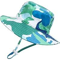 Siravic Toddler Sun Hats Wide Brim 2019 New Desin Beach Pool Swim Adjustable Bucket Hats for Kids Babys UV Sun Protection