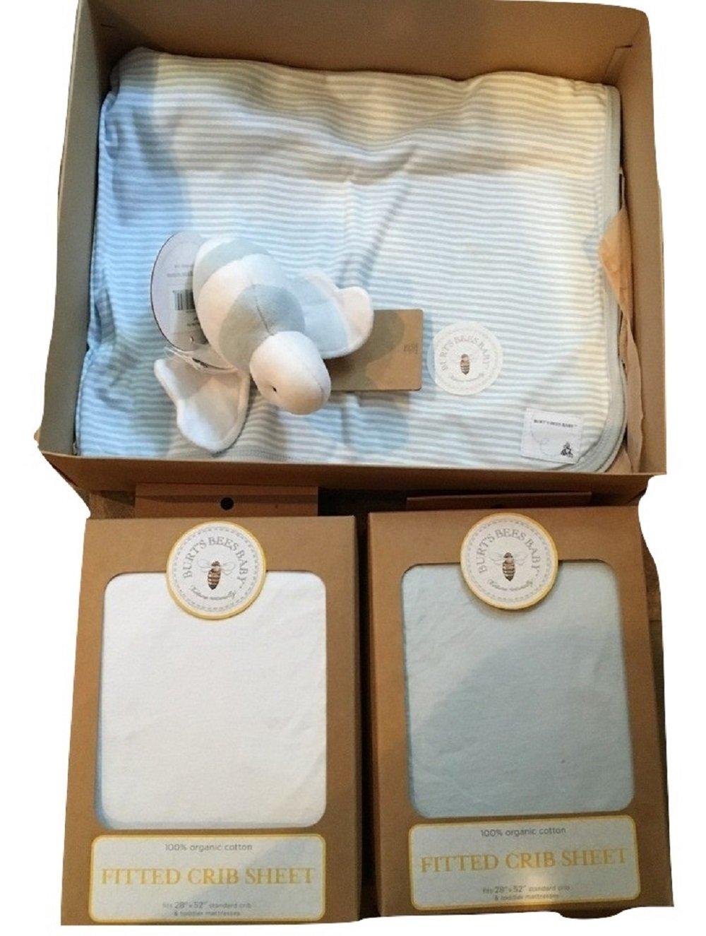 Burt's Bees Baby'' Organic 4 PC Bedding Gift Set SKY BLUE