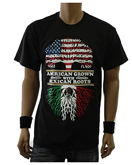 1ec459680 90210 Wholesale Graphic T-Shirt American Grown with Mexican Roots Printed  Spanish Tee (S