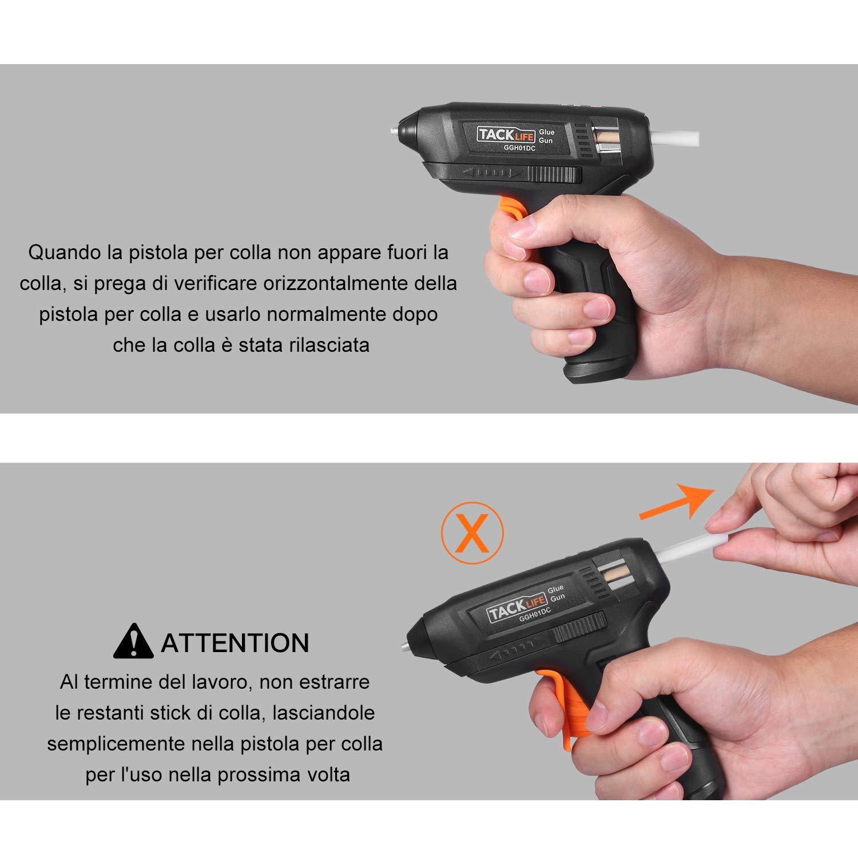 USB-Kabel 50 Stifte Ladeanzeige GGH01DC 3.6 V mit Lithium-Akku 2000 mAh inkl Hei/ßklebepistole Tacklife Leuchtanzeige bei Betrieb