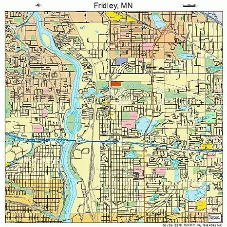 Amazon.com: Large Street & Road Map of Fridley, Minnesota MN ...