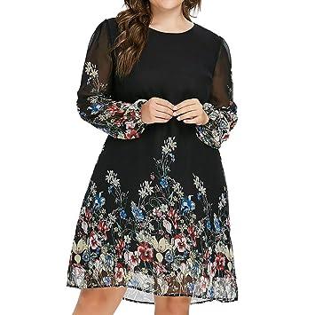 ღLILICATღ Vestidos de Mujer Falda Mujer Vestidos Midi Cuello ...