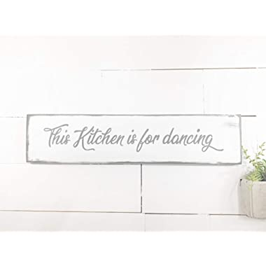 Weathered This Kitchen is for dancing Wood sign by BeaWOODtiful
