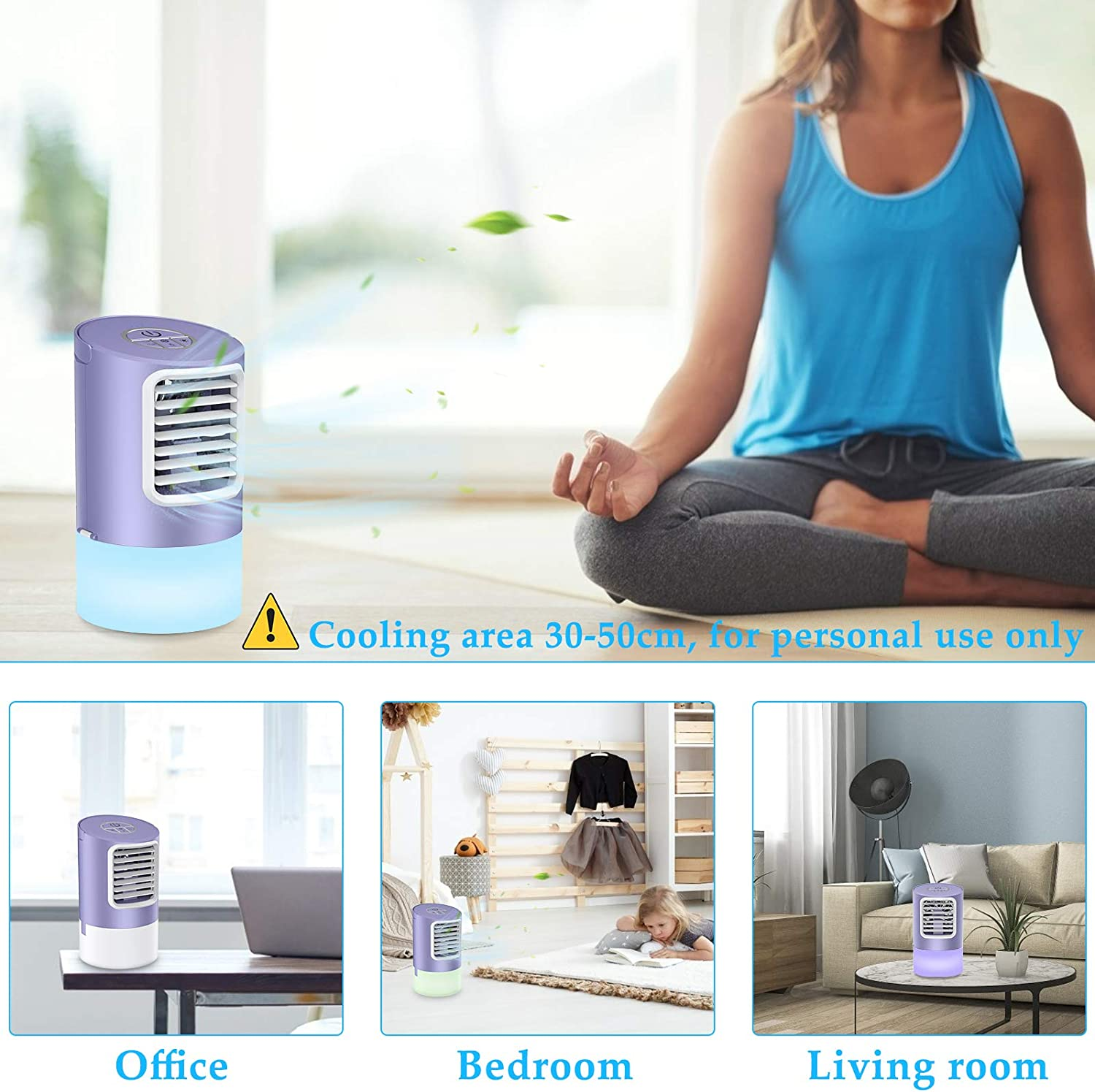 Purple By Page Hodge Personal Evaporative Air Cooler Humidifier ...