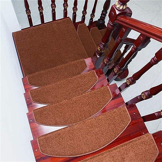 Escalón Mat Pegamento-Libre Auto-Adhesivo Antideslizante Paso Mármol Gris Pura Simple De Madera Maciza Escalera De La Alfombra Fuerte Adsorción del Medio Ambiente Conjunto De Salud 15 (24 × 65 Cm),B: Amazon.es: Hogar