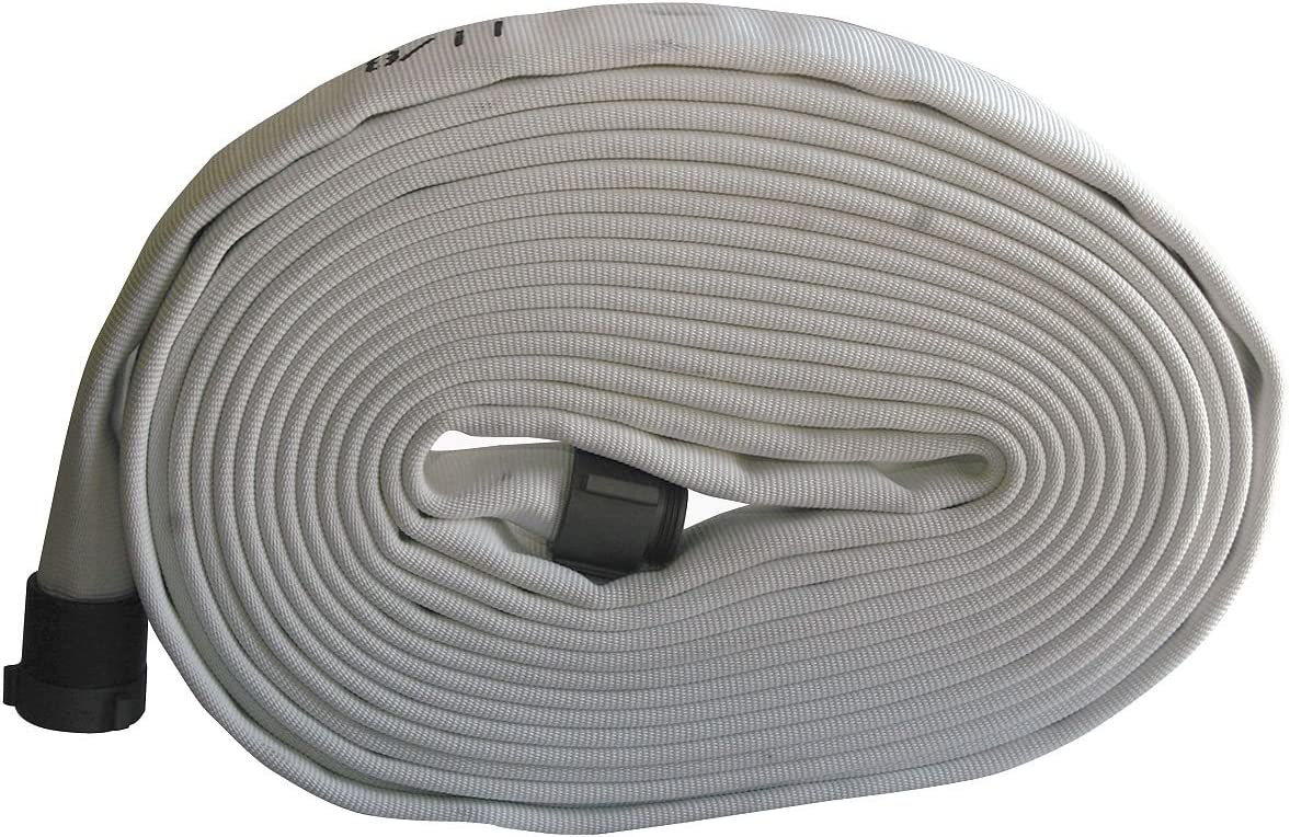 Dia 1 In 50 ft Wildland Fire Hose White