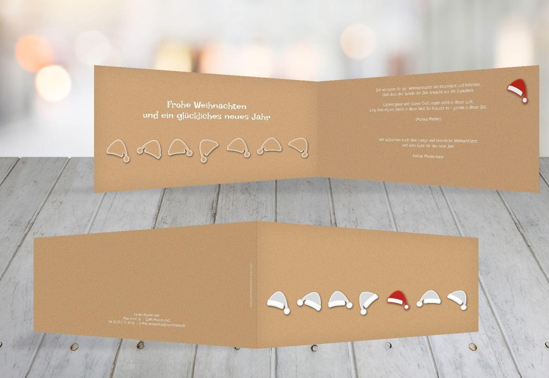 Kartenparadies Grußkarte Weihnachten Weihnachten Weihnachten Grußkarte Mützenreihe, hochwertige Weihnachtsgrüße als Weihnachtskarte (Format  215x105 mm) Farbe  MattRotOrange B01N9R53NV | Deutschland Frankfurt  | Der neueste Stil  | Um Eine Hohe Bewu 28e7be