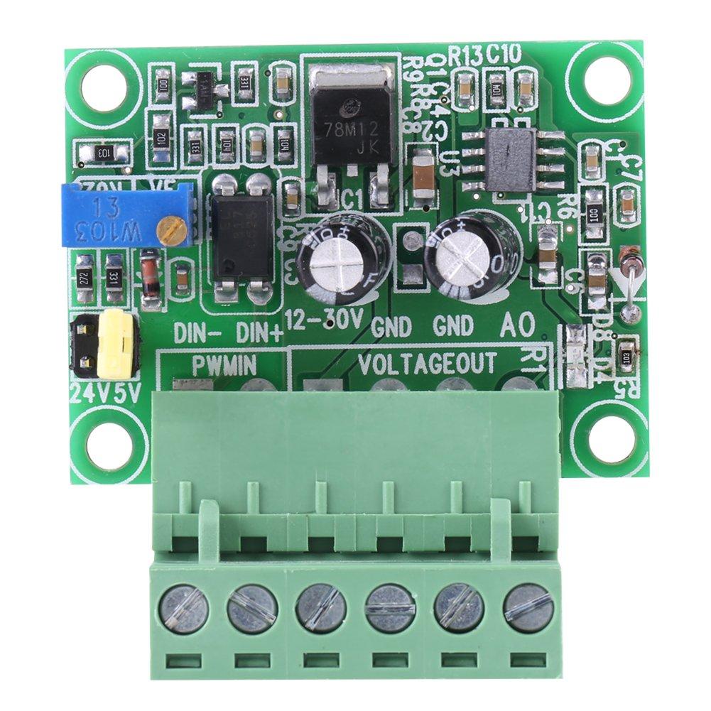 Digital to Analog Converter Module, 1-3KHZ 0-10V PWM Signal to Voltage Converter Module Digital Analog Board GLOGLOW