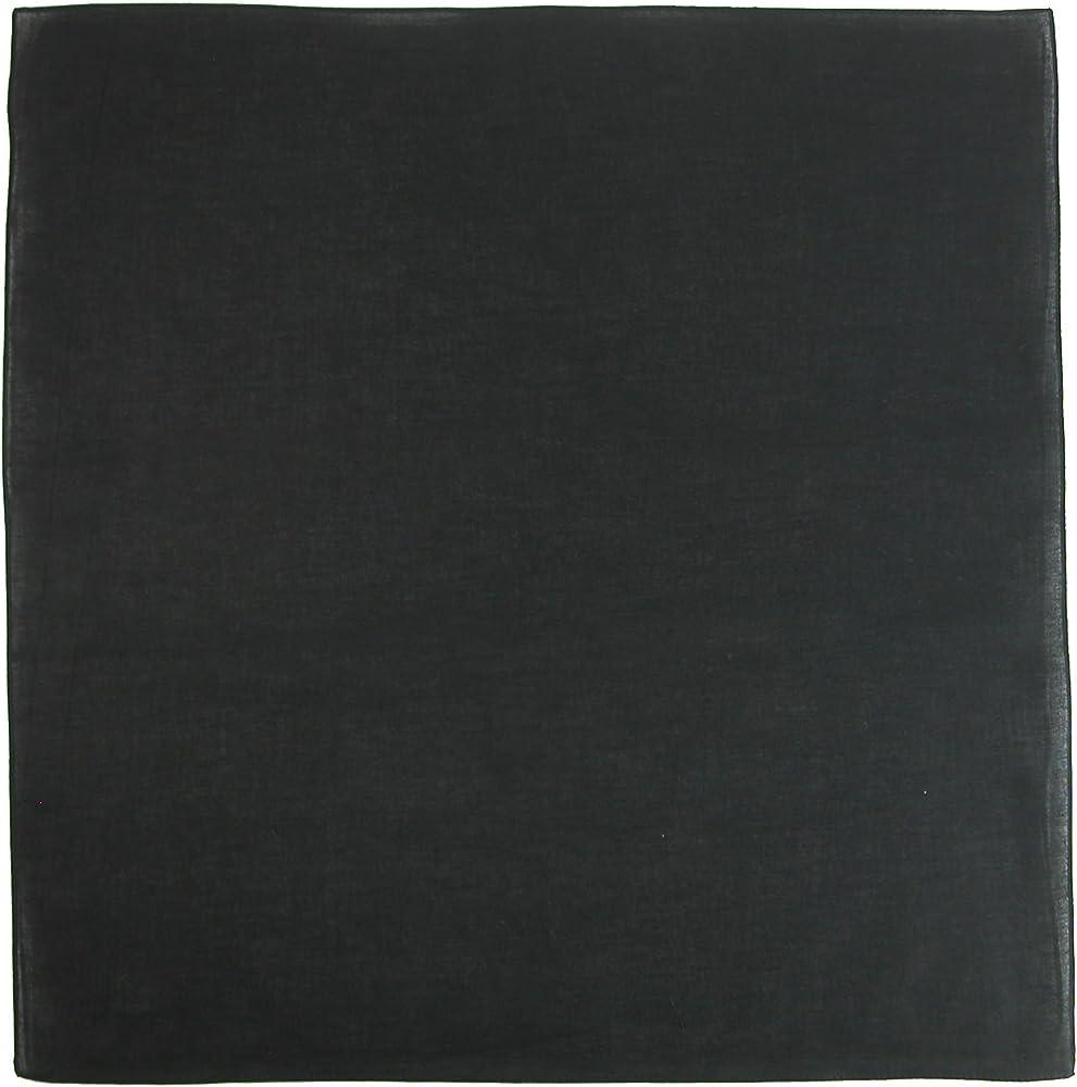 CTM Bandanas de algodón macizo para mujer Talla única Negro ...