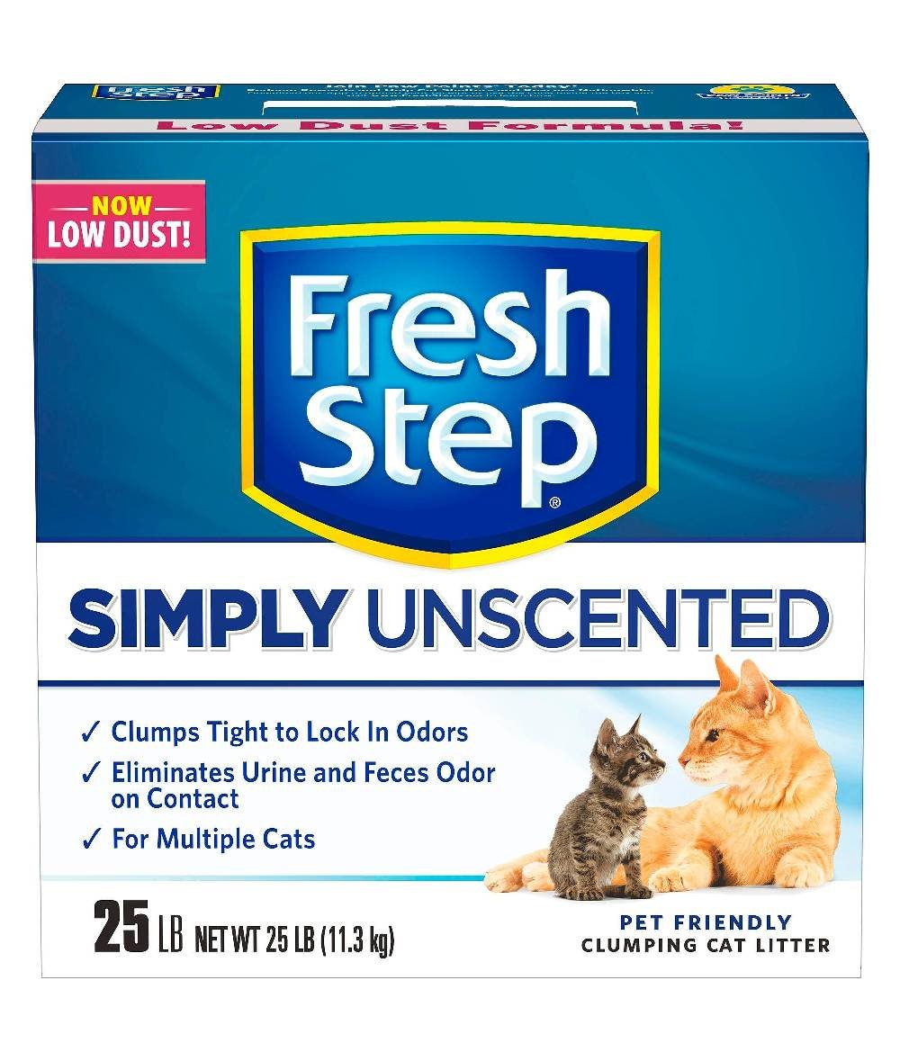 Fresh Step Multi-Cat Clumping Cat Litter Unscented - 25lbs - 4 Box