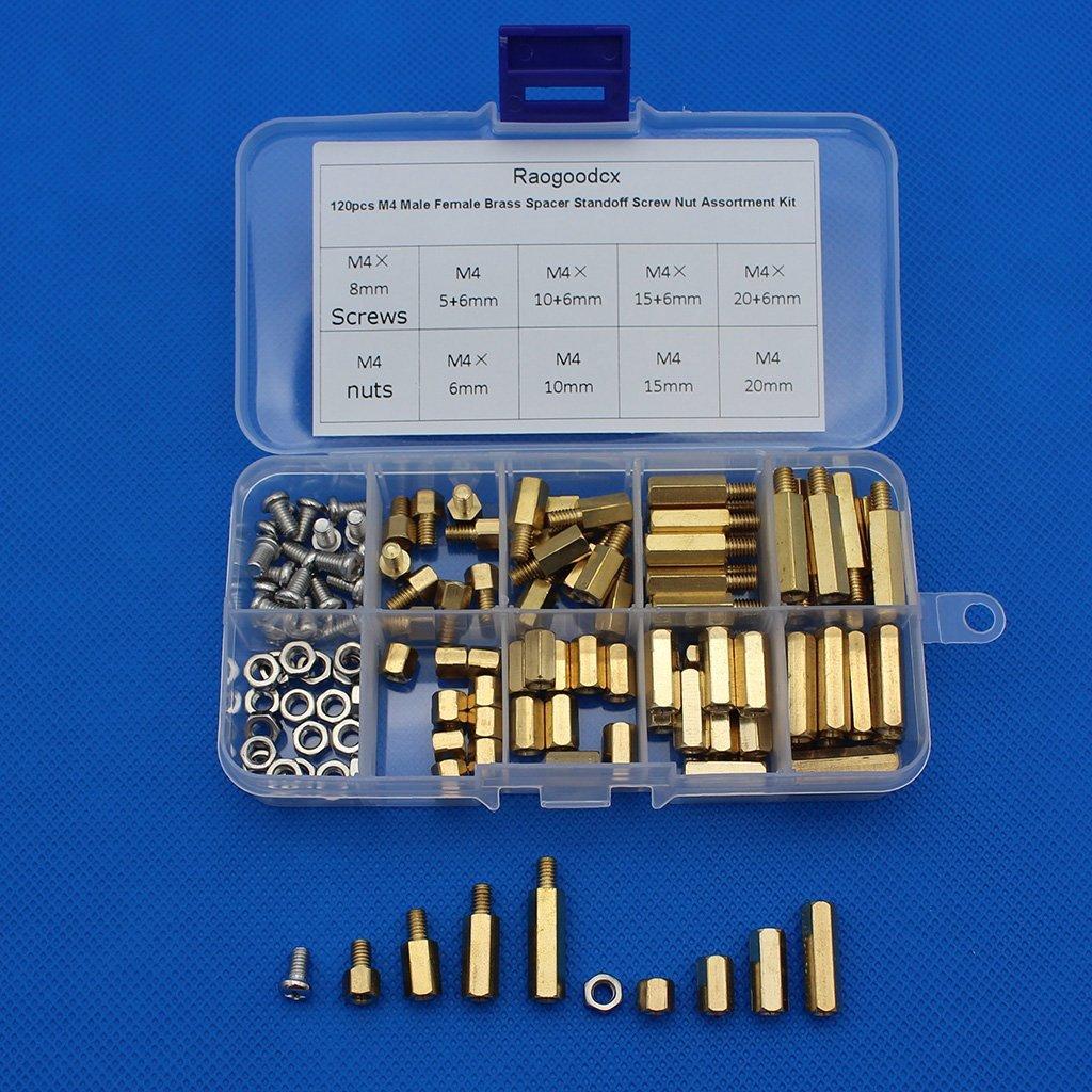 Raogoodcx 320pcs M25 Male Female Brass Spacer Standoff Screw 6mm 120pcs M3 Copper Silver Pillars Circuit Board Pcb Nut 10mm 15mm 20mm Assortment Kit