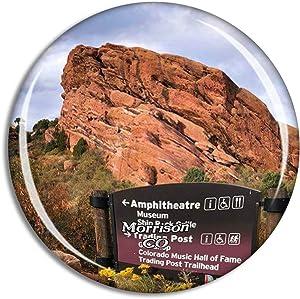 Morrison Red Rocks Park Colorado USA Magnet Travel Souvenir 3D Crystal Glass Collection Gift Refrigerator Sticker