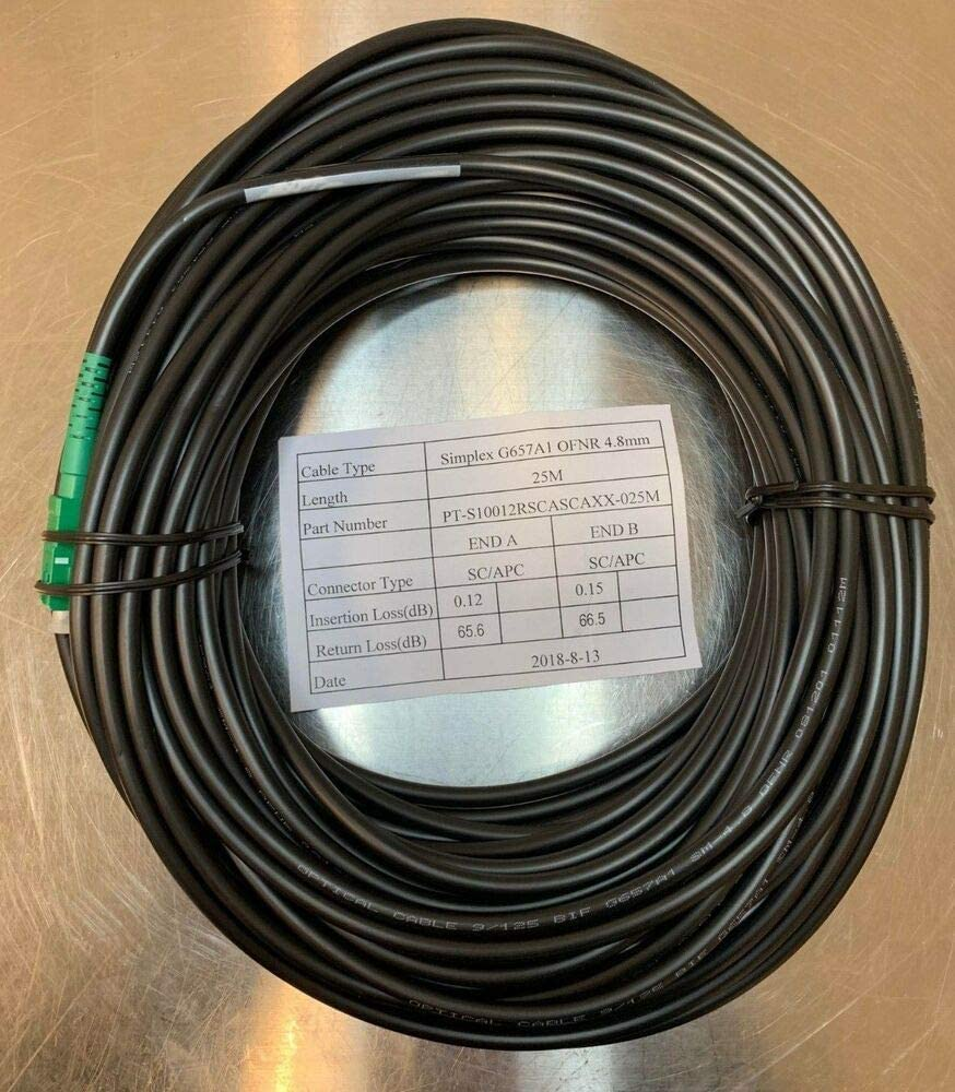 G657A1 4.8mm Indoor//Outdoor OFNR Cable 25 Meters SCAPC Fiber Jumper MDU Cable