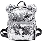 ade821391681 BESTVECH Fashion Shining Women Sequins Backpacks Teenage Girls Party Mini  School Bags Silver