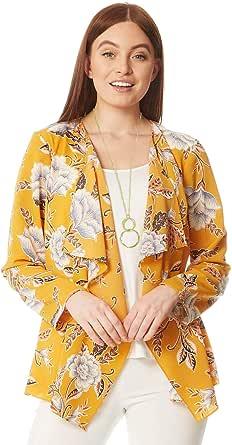 Roman Originals - Chaqueta Kimono para mujer con flores y manga larga – Chaleco chal bohemio de corte holgado, ideal para la playa este verano