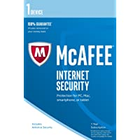 McAfee Internet Security   1 Device   1 Year   PC/Mac/Android   Download - Latest Version