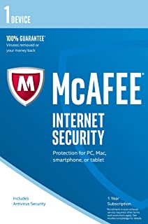 McAfee 2016 Internet Security | 10 Devices | 1 Year | PC/Mac/Android