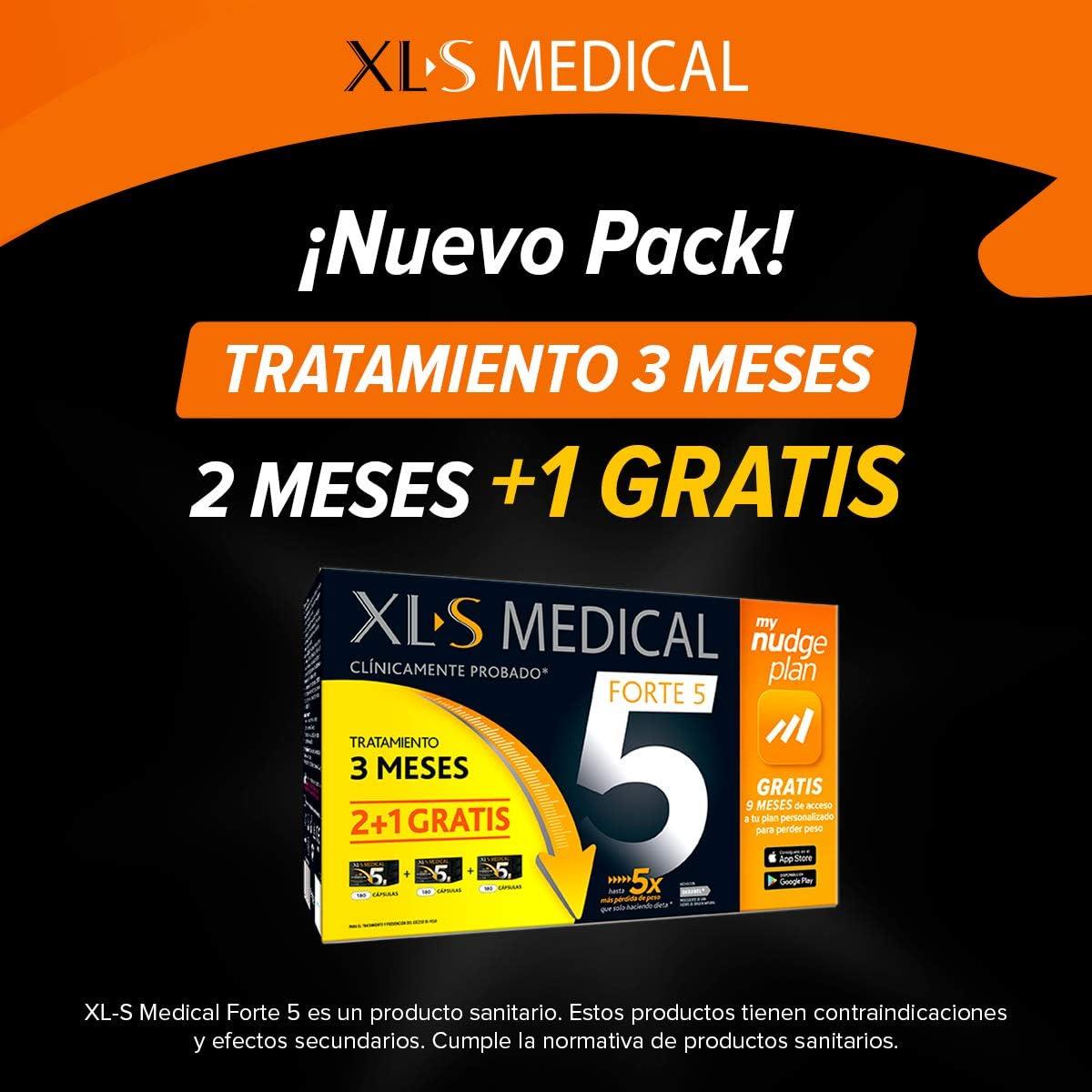 540 cápsulas para perder peso XL-S Medical Forte 5 + Plan nudge & Servicio nutricionista por 108,80€ ¡¡Ahorras 27€!!