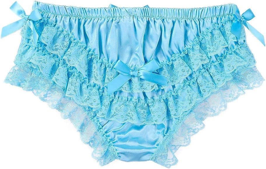 CHICTRY Mens Feminine Panties Silky Satin Lingerie Sissy Knickers Panties